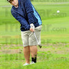 Chipper: North's Nick Vrabic chips to the green during match play against South Vermillion Thursday afternoon at Hulman Links.