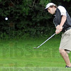 Chip shot: South Vermillion's Logan Burdick hits a shot on the second hole during match action against Terre Haute North Thursday afternoon.