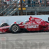 They couldn't catch him: 2010 Indianapolis 500 Mile Race winner Dario Franchitti of Target Chip Ganassi Racing cruises through turn four with a sizable lead in the last half of the 500 mile race Sunday in Indianapolis.