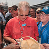 Back home in Indiana: David Letterman, late night talk show host and race team owner, signs autographs for fans before the start of the Indianapolis 500 Mile Race Sunday.