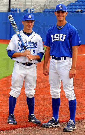 Kyle Burnan and Brandon Dorsett, ISu and Rex players.