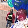 Birthdays: Eleven-year-old Jazzmmiere Carter checks the balloons at the main entrance to the Vigo County Relay For Life at Rose-Hulman Friday afternoon.