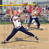 Gott it: Bloomfield's #25, Shelby Gott fires a pitch to the plate during game action Friday evening against Linton.