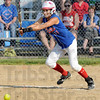 Slap and run: Linton's #11, Samantha Butt makes contact with the ball during game action against Bloomfield Friday evening.