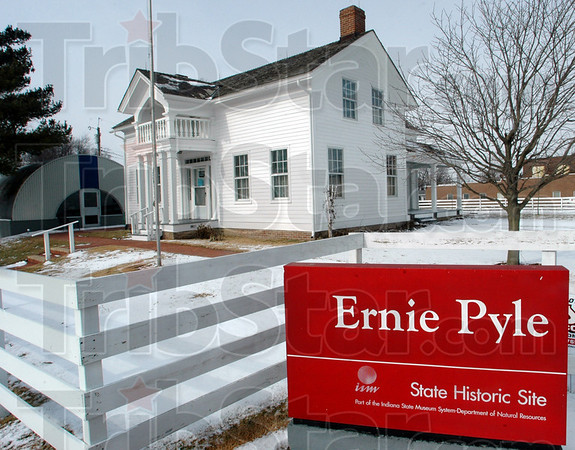 Site: The Ernie Pyle State Historic Site is located on SR 71 at Broadway Street in Dana, Indiana.