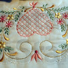 Detail: Close-up detail of embroidery work by Kay Bozarth.