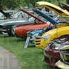 Say Ahhhhhhh: A line of vehicles show their engines at Collett Park Saturday afternoon during a Happiness Bag fundraiser sponsored by the Wabash Valley Corvette Club.