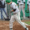 Thud: West Vigo's #6, Cody Wheat takes one for the team as he gets hit with a pitch during game action against Edgewood Wednesday evening.