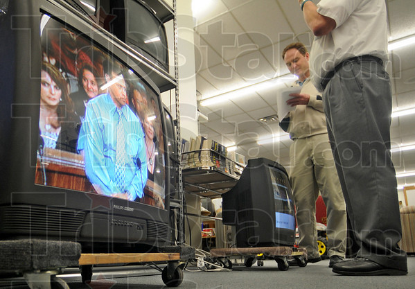 Good: Several televisions brought to the recycling center at Goodwill were actually in good working condition so instead of recycling, the sets were on sale in the retail store. Tribune-Star reporter Arthur Foulkes talks with Bill Tennis about the free recycling program.