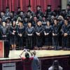 Graduates: GED graduates of 2010 pose for photographs after receiving their diplomas Wednesday evening.