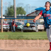 Tribune-Star/Joseph C. Garza<br /> Neon yellow heat: Linton's Stephanie Fougerousse pitches to a West Vigo batter during the Miners' win Friday at Linton.