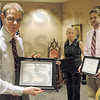 Awards: Rose-Hulman students Jonathan Picard, Amanda Cochren and Eric Snyder received awards from the United Cerebral Palsey's Wabash Valle Chapter for their design of a head-tracking device to help a local cerebral palsey patient better communicate.