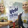 """Sheriff: South Vermillion High School students Mercedees Leister and Amanda Payton will work at precincts in Vermillion County election day. They are part of the """"Election Day Live"""" program."""