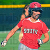 Roundtripper: Macy Toon rounds the bases after a two run homerun against Northview Tuesday evening.