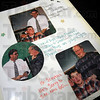 Memories: Detail photo of scrap book from Travis' high school days at West Vigo.