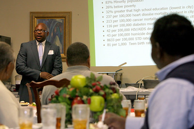 A lunch reception of the Weed and Seed program in Bailey Dining Hall, hosted by Dr. Eury.