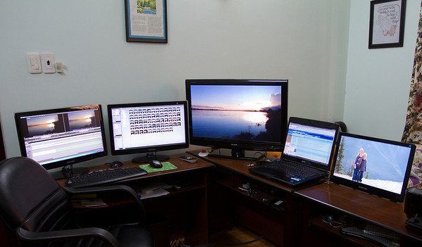 Frank is really liking his new edit suite in HCMC!