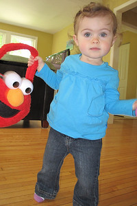 still playing with my Elmo Easter basket