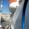 from the loading ramp facing the Genova coast (allmost on the boat!)