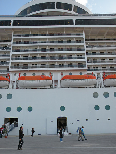 Me beside the big ship...