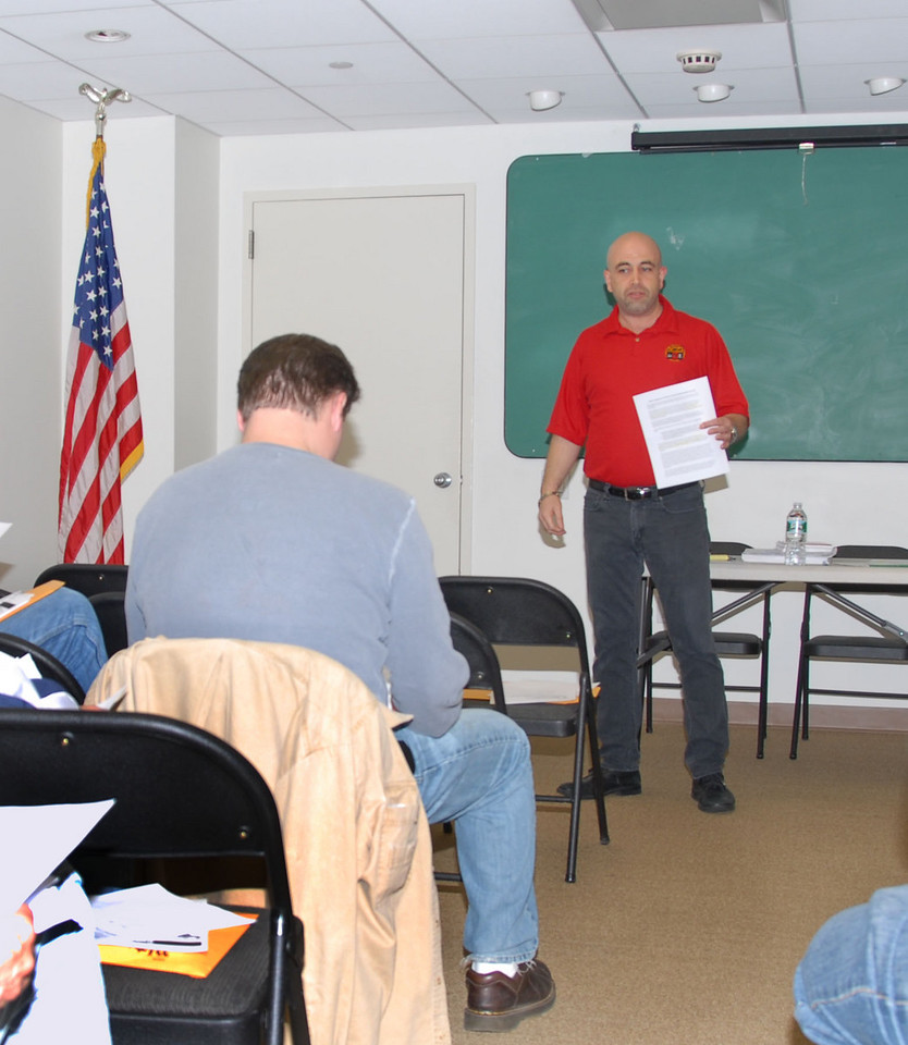 CWA local 1101, Business Agent Tony Fiumano, meets with his stewards and chiefs at local headquarters on April 21, 2010.