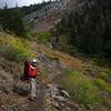 Judy, below the Monarch Creek crossing