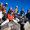Whole group on the Mineral Peak summit