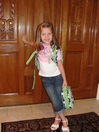 Aug 2010 - Miranda's first day of school