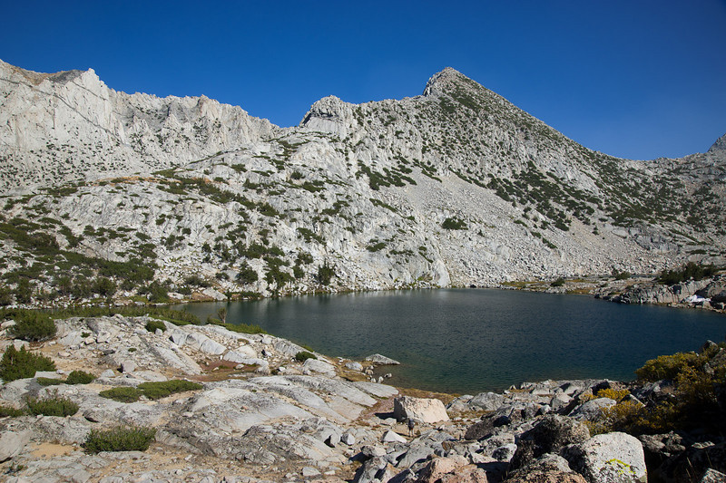 Upper Treasure Lake, where we camped
