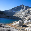 Treasure Lake and unnamed peak we call Mt. 'No Goode'