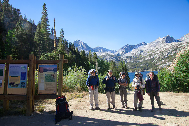 Starting from the Bishop Pass trailhead