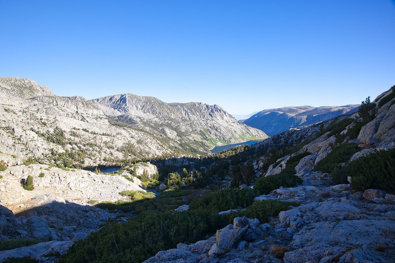 View from camp down toward South Lake