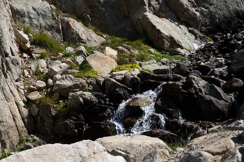 A small waterfall on the way up to camp