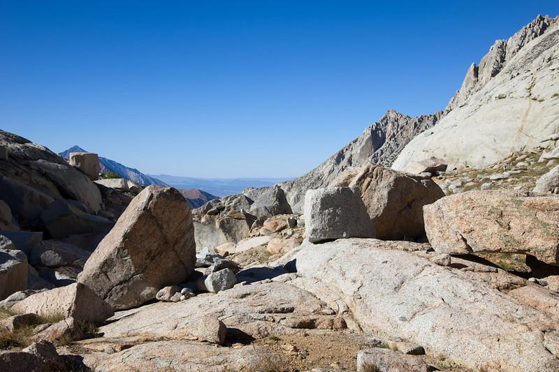 Boulders, below Sunset Lake