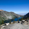 Lake Sabrina and north to the White Mountain range