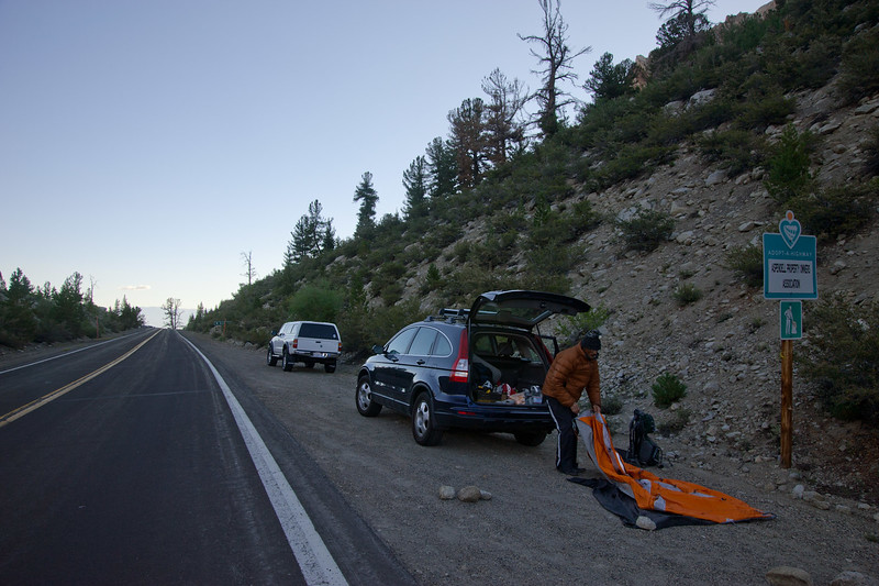 Decamping near Lake Sabrina