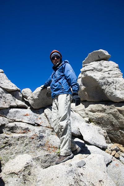 Aaron on the summit rock of Mt. Thompson