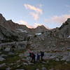 Hints of sunrise above Baboon Lakes