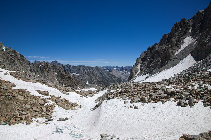 South from the pass toward LeConte canyon