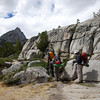 Granite shelves above Blue Lake