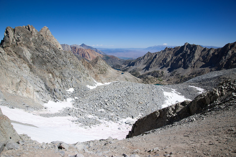 View from the pass between Mt. Powell and Mt. Thompson
