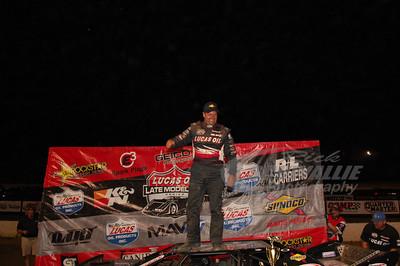 Earl Pearson, Jr. in Victory Lane @ Muskingum Co. Speedway