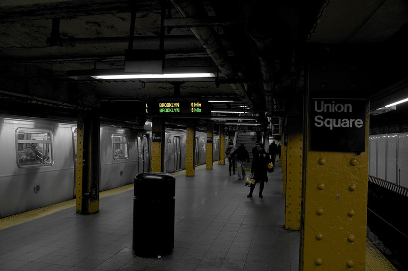 Union Square station - photoshoped