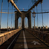 The Brooklyn Bridge - Brooklyn in the background