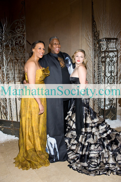 "NEW YORK-FEBRUARY 27: NYJL President, Gena Lovett, Vogue's Andre Leon Tally and Kathryn Chalmers attend  New York Junior League's 58th Annual Winter Ball: "" A Winter Palace 2010"" on Saturday, February 27, 2010 at  The Grand Ballroom 