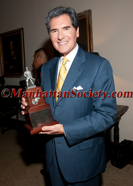 "Ernie Anastos receives The Public Service Award for his work honoring Marines from the NYC Marine Corps Council at the New York City Marine Corps Council ""Third Annual 'Mess Night"" for the benefit of the Marine Corps Law Enforcement Foundation and the Marine Executive Association on Wednesday, June 30, 2010 at New York Athletic Club,180 Central Park South, New York City (Photos by Christopher London ©2010 ManhattanSociety.com)"