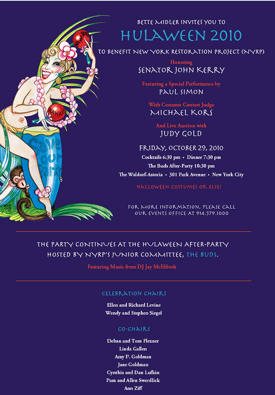 15th Annual Bette Midler's New York Restoration Project's Hulaween (Guest Arrivals)