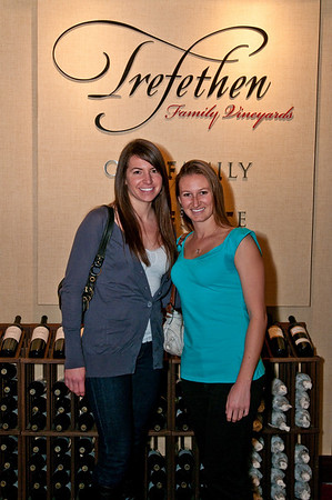 Julie's first winery at Napa Valley: Trefethen! Kira got in the picture so Julie wasn't alone! Julie had never been to Napa before so I got to break her in!