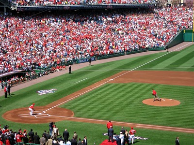 President Barack Obama throws the ceremonial first pitch to Nationals third baseman Ryan Zimmerman