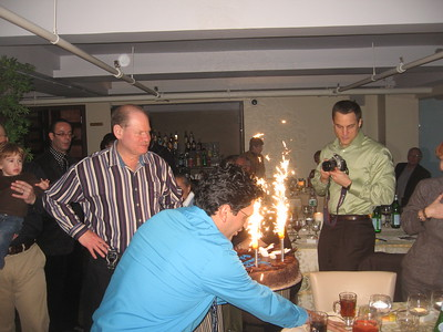 Gil considers his birthday pyrotechnics